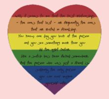 The Best Relationships Rainbow Heart One Piece - Short Sleeve