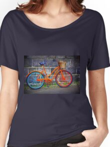 Bicycle in Iceland Women's Relaxed Fit T-Shirt