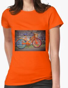 Bicycle in Iceland Womens Fitted T-Shirt