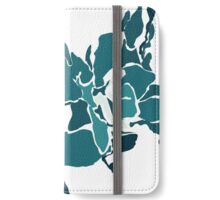 Orchards 2D in Teal iPhone Wallet/Case/Skin