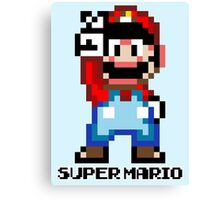 Super Mario 16 bit Victory Pose Canvas Print