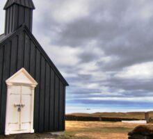 Black Church at Budir Sticker