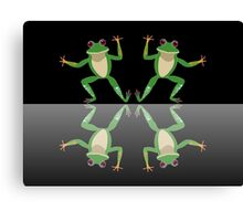 HAPPY DANCE BY FINGERS & TOES FROGS Canvas Print