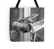 Leather saddle and bag Tote Bag