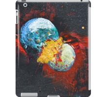 Colliding planets iPad Case/Skin
