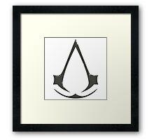Assassin Grunge Framed Print