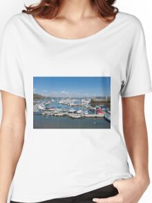 Mylor Marina Cornwall Women's Relaxed Fit T-Shirt