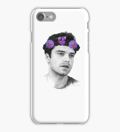 Sebastian Stan, Flower Crown (3) iPhone Case/Skin