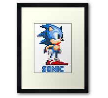 Sonic the Hedgehog 16 bit Framed Print