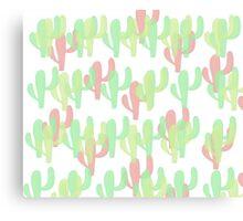Coloured Cactus Canvas Print