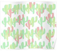Coloured Cactus Poster