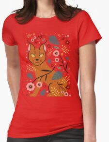 Caracal Cub Womens Fitted T-Shirt