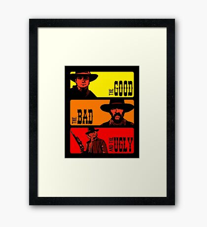 Back to the western Framed Print