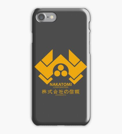 NAKATOMI PLAZA - DIE HARD BRUCE WILLIS (YELLOW) iPhone Case/Skin