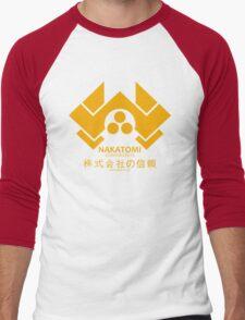 NAKATOMI PLAZA - DIE HARD BRUCE WILLIS (YELLOW) Men's Baseball ¾ T-Shirt