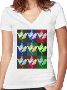 Marilyn Monroe Pop Art Women's Fitted V-Neck T-Shirt
