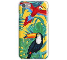 yellow tropical  iPhone Case/Skin