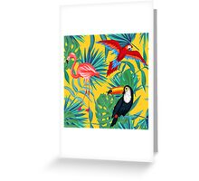 yellow tropical  Greeting Card