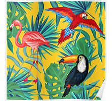 yellow tropical  Poster