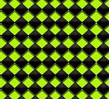 Black and Green Diamond - phone case by Kathy Weaver