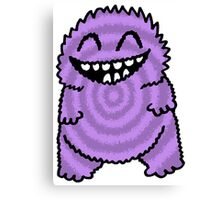 Purple Fuzz Monster Canvas Print
