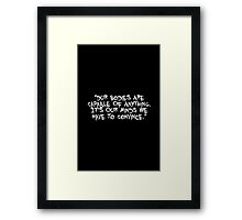 Dur bodies are capable of... Gym Motivational Quote Framed Print