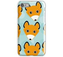 Cute fox face pattern iPhone Case/Skin