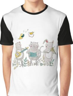 Animal Musicians Graphic T-Shirt