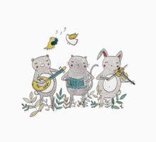 Animal Musicians One Piece - Short Sleeve
