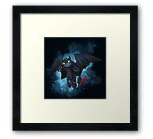 Alpha Toothless Framed Print