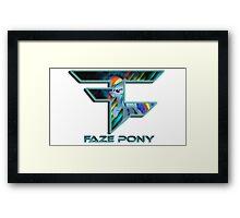 FaZe - pony Framed Print