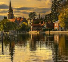 The Thames At Marlow In Late Afternoon Sticker