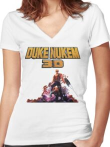 Duke 3D Women's Fitted V-Neck T-Shirt