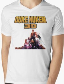 Duke 3D Mens V-Neck T-Shirt
