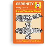 Haynes Manual - Serenity - Poster & stickers Canvas Print