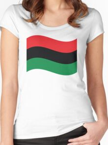 Red, Black & Green Flag Women's Fitted Scoop T-Shirt