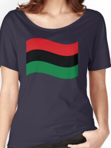 Red, Black & Green Flag Women's Relaxed Fit T-Shirt