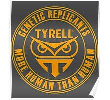 TYRELL CORPORATION - BLADE RUNNER (YELLOW) Poster
