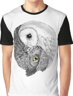 Owl Yin Yang Graphic T-Shirt