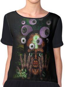 Alien Wizard if Eyes Chiffon Top