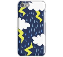 Rain storms thunder clouds iPhone Case/Skin