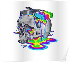 Rainbow Painted Skull Poster