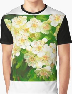 Bridal Wreath ( Abstract Painting ) Graphic T-Shirt