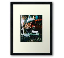 Old Fashioned Typewriter  Framed Print