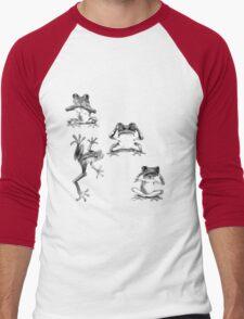 Fun Frogs See no evil, Speak no evil, Hear no evil Men's Baseball ¾ T-Shirt
