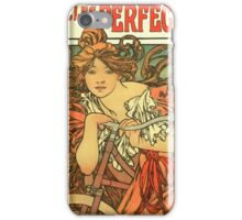 Alphonse Mucha - Art Nouveau - Cycles Perfecta iPhone Case/Skin