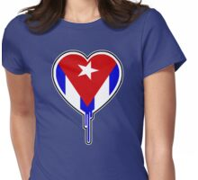 CUBAN BLEEDING HEART Womens Fitted T-Shirt