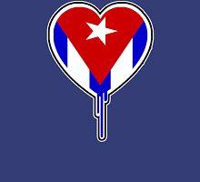 CUBAN BLEEDING HEART Womens Fitted T-Shirt