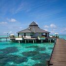 Overwater Restaurant at Maldivian Resort by JennyRainbow