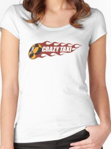 Crazy Taxi Logo Retro 16bit Women's Fitted Scoop T-Shirt